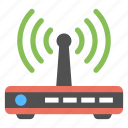 internet device, modem, network technology, wifi router, wireless connection icon