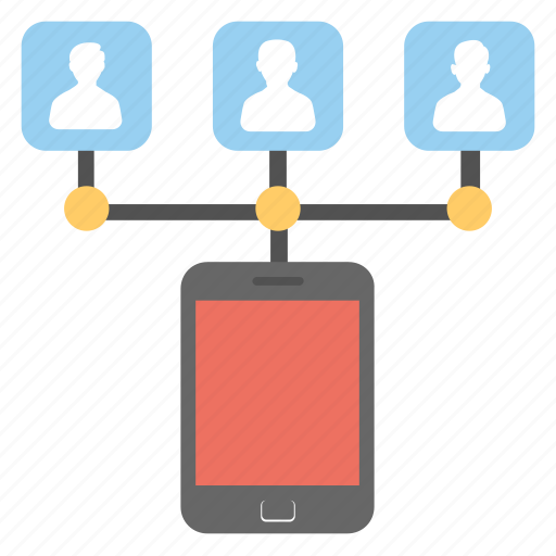 communication, information technology, mobile network, online community, social networking icon