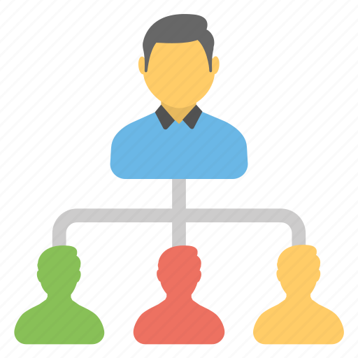 administrator, leadership, manager, network hierarchy, team leader icon