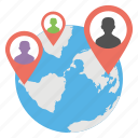 global locationing, gps, internet network, navigation technology, worldwide connections icon