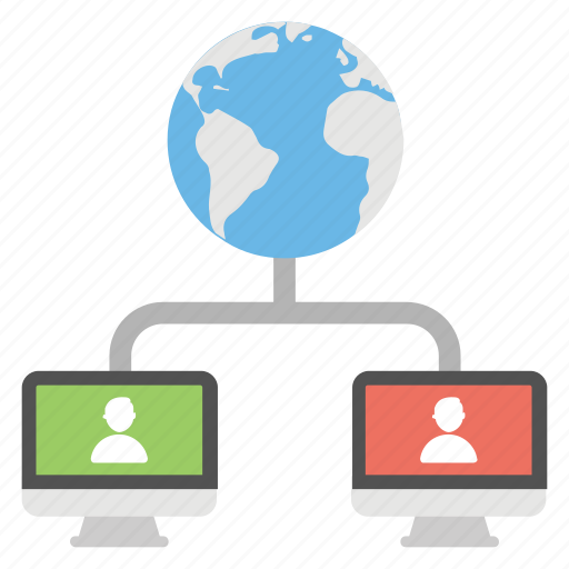communication technology, digital network, global networking service, internet connectivity, web connection icon