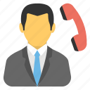 call center, telemarketing, customer support, calling agent, telephonic communication icon