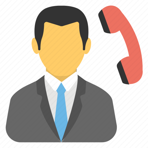 call center, calling agent, customer support, telemarketing, telephonic communication icon