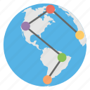 connections, global, links, users, worldwide icon