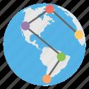connections, global, links, users, worldwide