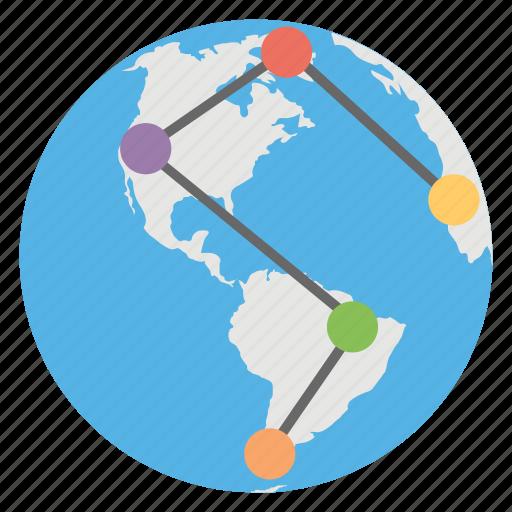 connections, global, links, users, worldwide icon