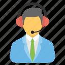 call center, customer service, hotline, women operator, technical support icon