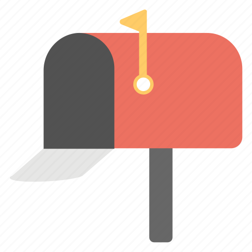 correspondence concept, letterbox, mail delivery box, mailbox, post box icon