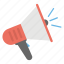 announcement, bullhorn, communication device, megaphone, mouthpiece icon
