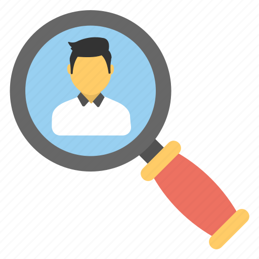 candidate search, human resource, recruitment, searching staff, talent hunt icon