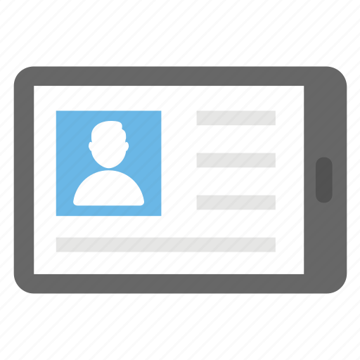 information display, mobile connectivity, online profile, social media, user interface icon