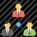 organization, collaboration, management, teamwork, team connection icon