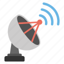 communication, space connection device, dish antenna, telecommunication, parabolic satellite icon