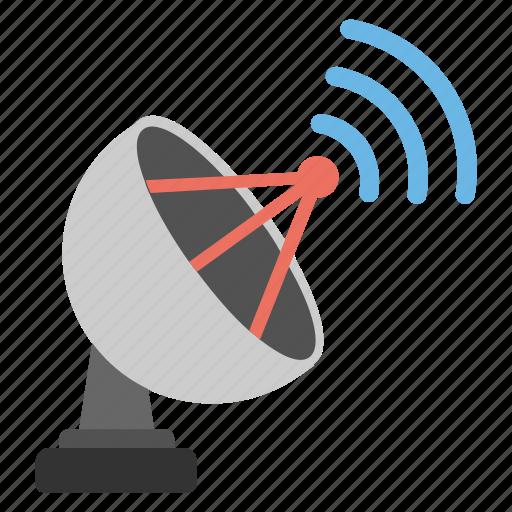 communication, dish antenna, parabolic satellite, space connection device, telecommunication icon