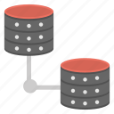 network connection, big data processing, network interconnections, data connectivity, web hosting icon