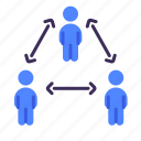 crowds, safe, social distancing, standing, prevention, coronavirus icon