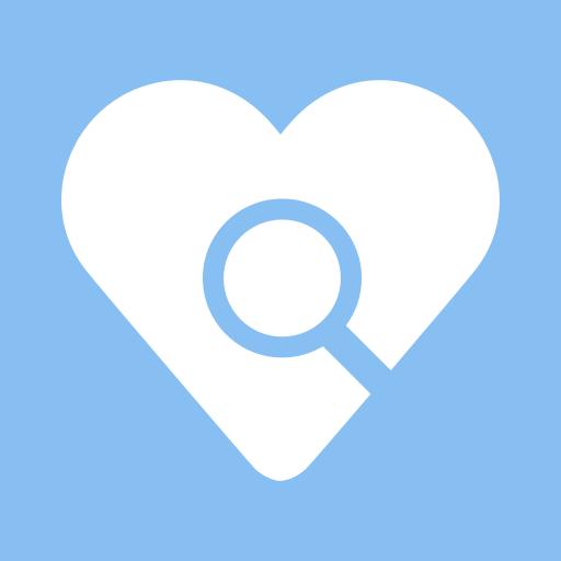 blip, blippex, locate, research, search engine icon