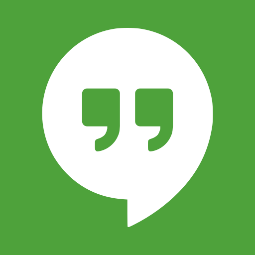 conferencing, google, hangouts, instant, messaging, package, software, video icon