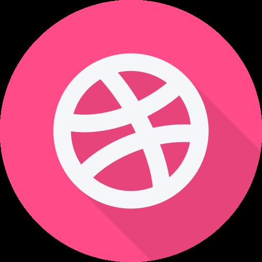 brand, dribbble, logo, social, social network, website icon