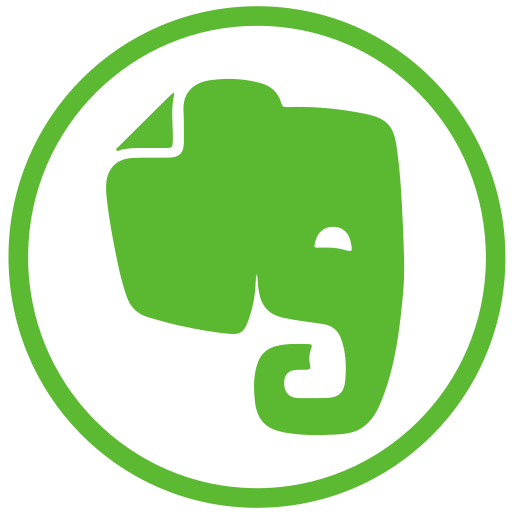 elephant, evernote, social icon