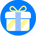 box, gift, ribbon icon