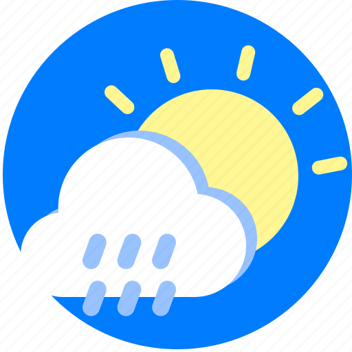Cloudy, day, rain, raining, rainy, sun icon - Download on Iconfinder