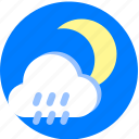 moon, night, rain, raining, rainy, weather icon