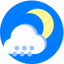 night, snow, snowy, weather, weather moon cloud icon