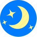 bright, moon, night, queit, star, weather