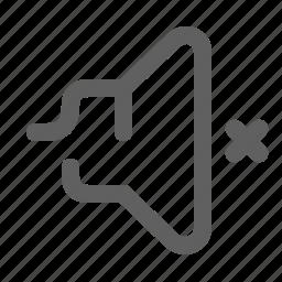 audio, music, mute, off, sound, speaker, volume icon