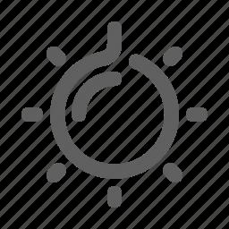 bright, idea, lamp, shine, sun, video icon