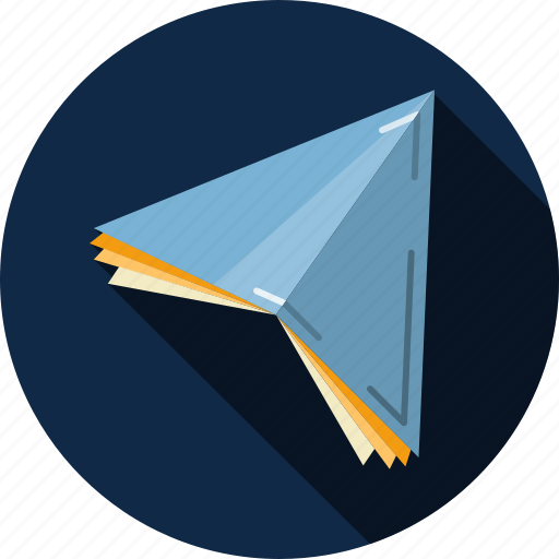 correspondence, email, envelope, flight, letter, message, paper plane icon
