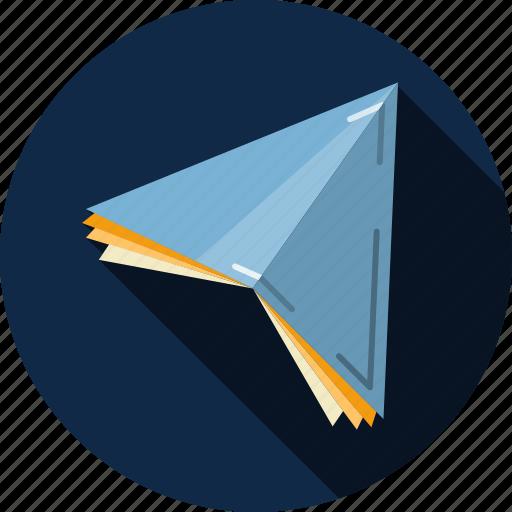 correspondence, email, envelope, flight, letter, message, paper plane icon