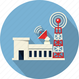 antenna, broadcasting, building, communication, tower, web, wifi icon