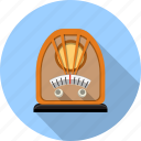 audio, multimedia, music, radio, retro, scale, vitange icon