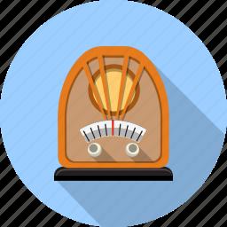 audio, multimedia, music, radio, retro, scale, vitange icon