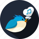 bird, chat, message, music, note, talk, tweet icon