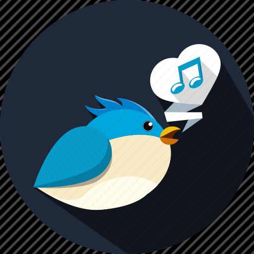 bird, chat, message, music, note, talk, tweet icon