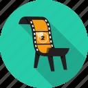 chair, cinema, film, media, movie, producer icon