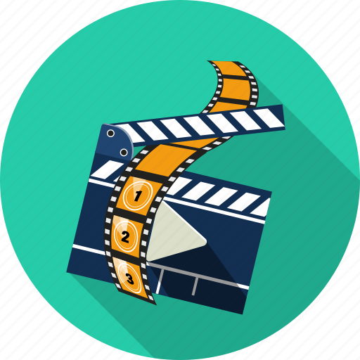 camera, clapperboard, film, media, movie, multimedia, play icon