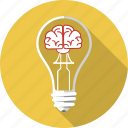 brain, bulb, business, inspiration, lamp, lightbulb, solution icon
