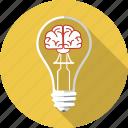 brain, bulb, business, inspiration, lamp, lightbulb, solution icon