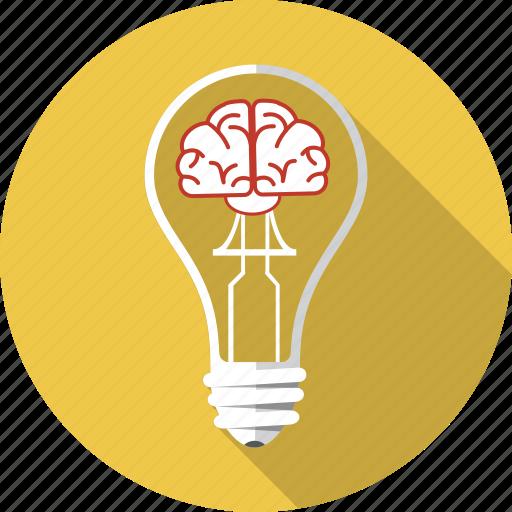 Perfect Brain, Bulb, Business, Inspiration, Lamp, Lightbulb, Solution Icon