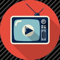 media, monitor, multimedia, screen, television, tv, video icon