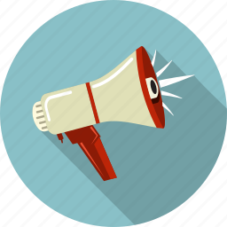 acction, advertising, communication, megaphone, message, sound, speaker icon