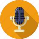 audio, mic, microphone, multimedia, music, record, sound icon