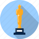 award, hollywood, oscar, prize, statuette, theatre, trophy icon