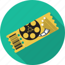 cinema, cupon, entertainment, film, movie, theatre, ticket icon