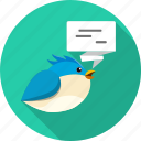 bird, chat, connection, message, talk, tweet, twitter icon
