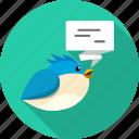 bird, chat, connection, message, talk, tweet, twitter icon